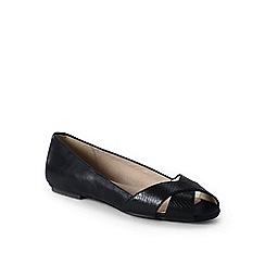 Lands' End - Black wide open toe shoes