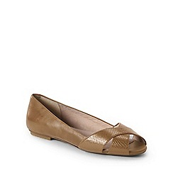 Lands' End - Beige wide open toe shoes