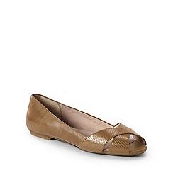 Lands' End - Beige wide open toe shoes
