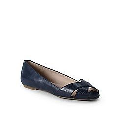 Lands' End - Blue wide open toe shoes