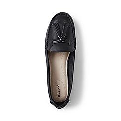 Lands' End - Black  wide adie tassel loafers