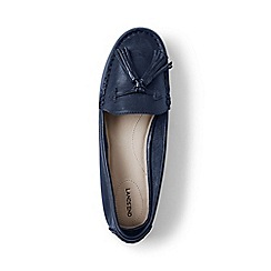 Lands' End - Blue  wide adie tassel loafers