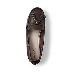 Lands' End - Brown wide adie tassel loafers