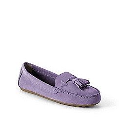Lands' End - Purple  wide adie tassel loafers