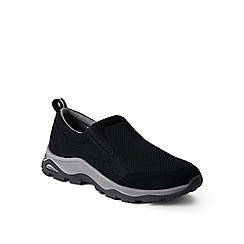 Lands' End - Black wide mesh trekker shoes