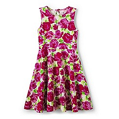 Lands' End - Pink girls' sleeveless ponte twirl dress