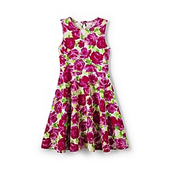 Lands' End - Pink girls' sleeveless ponte twirl dress