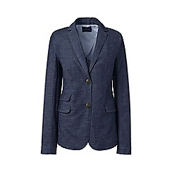 Lands' End - Blue regular stretch chambray blazer