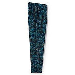 Lands' End - Blue regular floral soft trousers