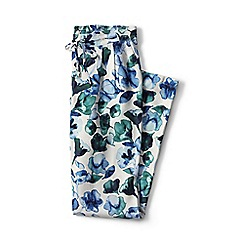 Lands' End - Blue regular floral soft trousers