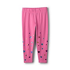 Lands' End - Girls' pink cropped leggings