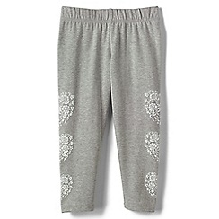 Lands' End - Grey girls' cropped leggings