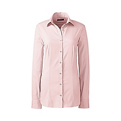 Lands' End - Pink regular tailored stretch shirt