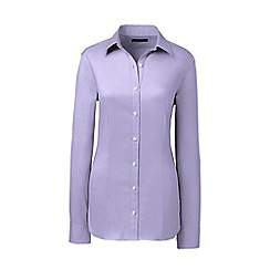 Lands' End - Purple regular tailored stretch shirt