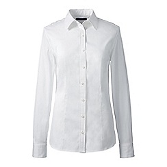 Lands' End - White regular tailored stretch shirt