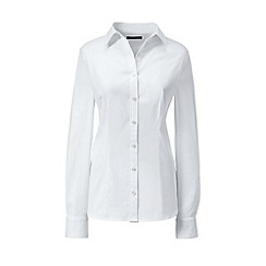 Lands' End - White regular tailored stretch shirt