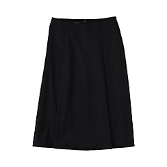 Lands' End - Black woven panelled midi skirt