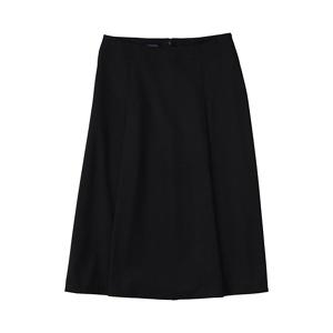 Lands' End Black petite woven panelled midi skirt