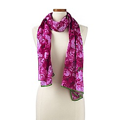 Lands' End - Pink  peony floral scarf