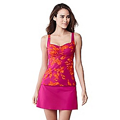 Lands' End - Pink beach living blossom print sweetheart tankini top