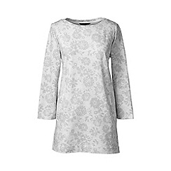 Lands' End - Grey regular three quarter sleeve print tunic
