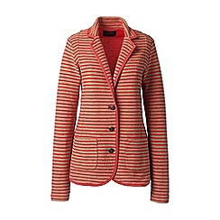 Lands' End - Brown regular striped jersey blazer