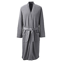 Lands' End - Grey waffle-knit dressing gown