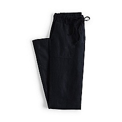 Lands' End - Black plus linen roll hem trousers