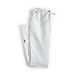 Lands' End - Plus size White linen roll hem trousers