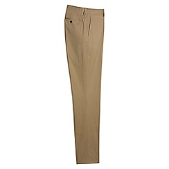 Lands' End - Brown tailored stretch chinos