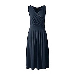 Lands' End - Blue regular jersey crossover dress