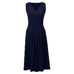 Lands' End - Blue regular jersey crossover dress