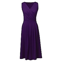 Lands' End - Purple regular jersey crossover midi dress