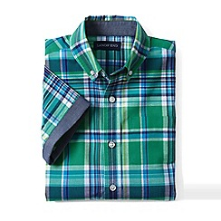 Lands' End - Boys Green short sleeve camp shirt