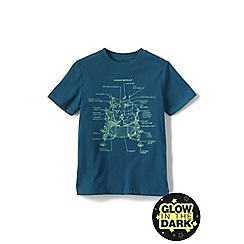 Lands' End - Boys' Blue glow-in-the-dark graphic tee
