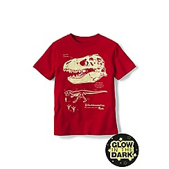 Lands' End - Boys' Red glow-in-the-dark graphic tee