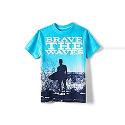 Lands' End - Boys' Blue metallic foil graphic tee