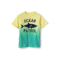 Lands' End - Boys' Green metallic foil graphic tee