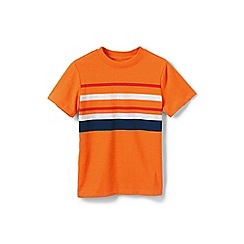Lands' End - Boys' Orange summer stripe tee