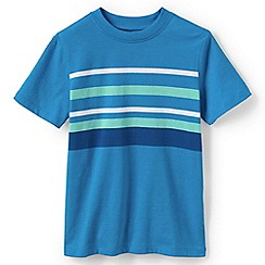 Lands' End - Boys' Blue summer stripe tee