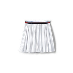 Lands' End - Girls' White pleated jersey skirt