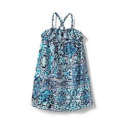 Lands' End - Girls' Blue woven sleeveless dress