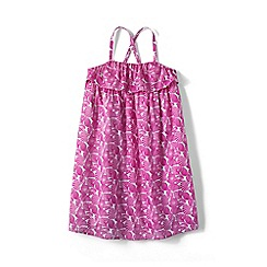 Lands' End - Girls' Pink woven sleeveless dress