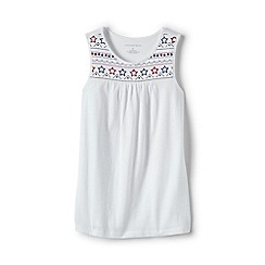 Lands' End - Girls' White embellished vest top