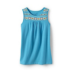 Lands' End - Blue girls' embellished vest top