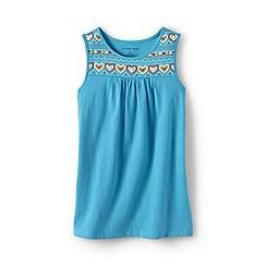 Lands' End - Blue girls' embellished vest top