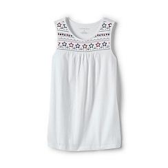 Lands' End - Girls' White embellished vest top