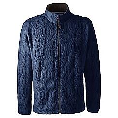 Lands' End - Blue regular cable fleece jacket