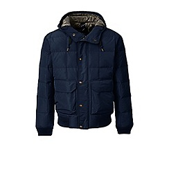 Lands' End - Blue regular hooded down bomber jacket