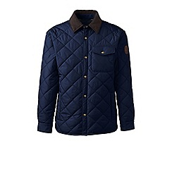 Lands' End - Blue regular quilted primaloft jacket
